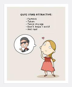 Guys I Find Attractive Print A4 | Lingvistov