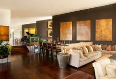 think all the brown looks so nice because some walls were left white. like this, even with dark floors