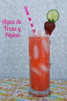 Agua De Fresa Y Pepino – Cucumber Strawberry Water
