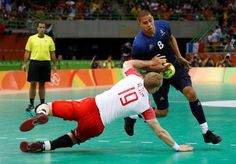 Daniel Narcisse of France works around Rene Hansen of Denmark in the gold medal match during the Rio 2016 Summer Olympic Games at Future Arena.     -  Best images from Aug. 21 at the Rio Olympics