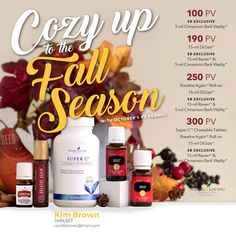 October free products from Young Living essential oils.  Stock up for fall.