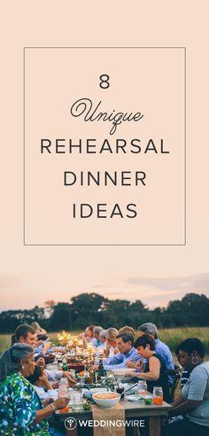 8 Unique Rehearsal Dinner Ideas - Explore creative ideas to make your rehearsal dinner one your guests will remember on @WeddingWire