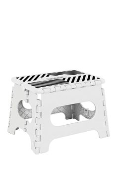 "9"" White Folding Step Stool on @nordstrom_rack"