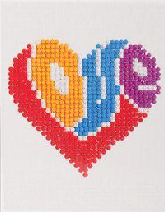 World Love Diamond Dotz Best Diamond, Diamond Art, Dot Painting, Painting Patterns, Beatles Art, 5d Diamond Painting, Diy For Girls, Heart Jewelry, Seed Beads