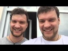 Twin brothers try a face swapping app