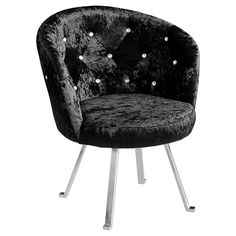 Contemporary Tiffany Black Velour Tub Chair with Buttoned Crystals just £219 shop>http://www.uniquechicfurniture.co.uk/contemporary-black-crushed-velvet-boudior-chair-with-diamante-buttons-31193-p.asp