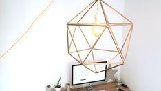 como hacer una lámpara con pajitas