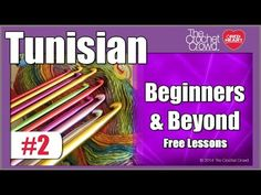 """Tunisian Crochet Lesson 2: Getting Started (Note: For scarfs, throws or afghans, """"M"""" size hook or larger is best... Deb)"""