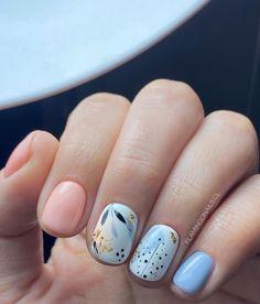 Hot Nails, Pink Nails, Hair And Nails, Shellac Nails, Nail Manicure, Cute Spring Nails, Oval Nails, Flower Nails, Trendy Nails