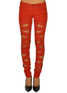 Tripp Z Cut Lipstick Red Womens Skinny Jeans