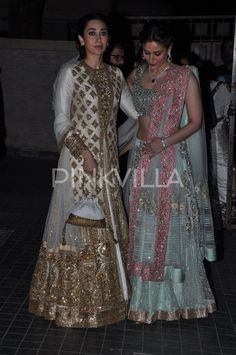 Karisma, Babita, Kareena, Saif at Soha's wedding reception | PINKVILLA