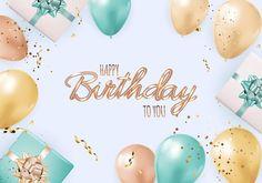 Fondo de cumpleaños feliz fiesta con globos realistas, caja de regalo y confeti. | Vector Premium Birthday Posts, Birthday Stuff, Birthday Post Instagram, Birthday Card Template, Congratulations Card, Card Tags, Happy Birthday Cards, Special Holidays, Place Card Holders