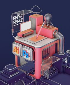 The Art of Motion Graphic Workflow on Behance Isometric Art, Isometric Design, 3d Cinema, Game Character Design, Character Art, 3d Typography, 3d Artwork, Environment Concept Art, Motion Design