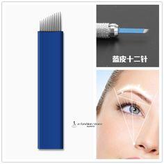 12 kolíky na použitie ihiel ostrie noža permanentný make-up ihly microblading ihlové blade12 hrotmi obočie perá nože