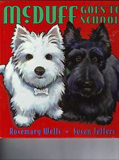 SCOTTIE WESTIE Westhighland dog terrier McDuff GOES TO SCHOOL book HC dog fun^.^