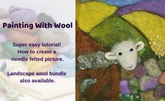 How To Needle Felt With Lincolnshire Fenn Crafts – How to needle felt for beginners onward. Full of needle felting ideas, advice, tips, tutorials and tea, lots of Yorkshire Tea! Needle Felting Kits, Needle Felting Tutorials, Needle Felted Animals, Nuno Felting, Felt Animals, Easy Felt Crafts, Book Crafts, Craft Books, Diy Crafts