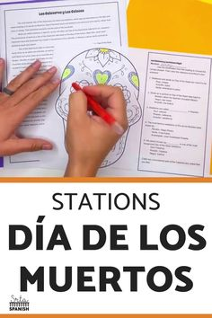 Check out some engaging options for station ideas, cultural activities, and crafts you could include for Day of the Dead Activities for Spanish class! Help your students or kids learn everything about the Day of the Dead with this collection of Día de los Muertos lesson plans and resources. This post is great for any middle or high school Spanish class studying el Día de los Muertos, the Day of the Dead. Class decor, writing activities, games, and more included! Click through to learn more! Spanish Lesson Plans, Spanish Lessons, Spanish Classroom, Teaching Spanish, Class Activities, Writing Activities, Middle School Spanish, Class Decoration, Student Reading