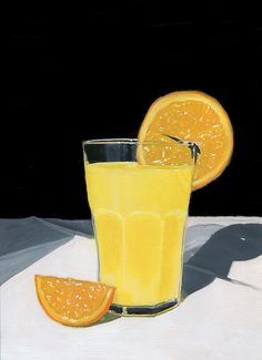 Original Food & Drink Painting by Karyn Robinson Shadow Photography, Painting Still Life, Realism Art, Non Alcoholic, Orange Juice, Light And Shadow, Contemporary Artists, Art For Sale, Wood Art