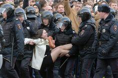 Protestein Russland: Die Jungen begehren auf, der Staat schlägt zurück - SPIEGEL ONLINE - Politik