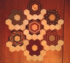 this will be my layout, one row of path hexis around my flowers - as you can see the flowers share path hexes
