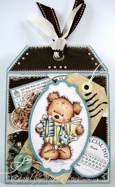 Nixe07 - Moni´s creative place: Tag Karte / Tag Card ... Lili of the Valley *Cheers Bear*