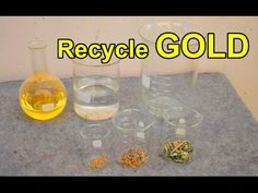Recycle gold from E-waste Circuit electronic computer parts Scrap.