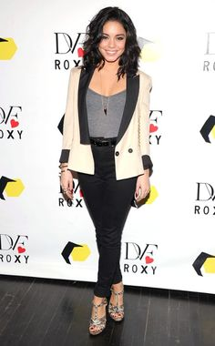 Vanessa Hudgens. Such a classic outfit. Love it.