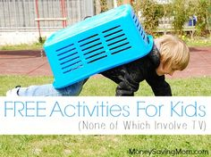 Here's a GREAT list of FREE activity ideas for kids -- none of which involve the TV or electronics!
