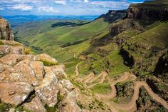 Sani Pass is a mountain pass located in the West of KwaZulu-Natal, South Africa on the road between Underberg, KwaZulu-Natal and Mokhotlong, Lesotho. The Tourist, Location Camping Car, Provinces Of South Africa, Visit South Africa, Dangerous Roads, Himalaya, Mountain Pass, Kwazulu Natal, Excursion