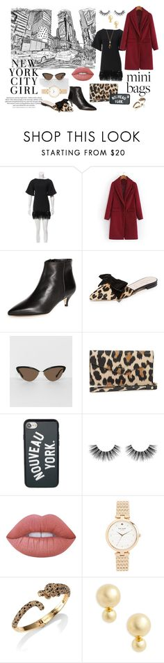 City Girl by jasvonne on Polyvore featuring Kate Spade, Tura, Velour Lashes, Lime Crime and H&M
