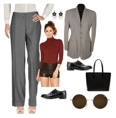 """""""similar to what I'm wearing today"""" by moestesoh ❤ liked on Polyvore featuring Mariella Rosati, Forever 21, Lacoste, Giorgio Armani, Officine Creative and Pandora"""