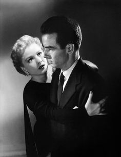 I Confess - Montgomery Clift & Anne Baxter - directed by Alfred Hitchcock