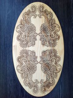 Personalized Cutting Board Spring Flowering Wood by CaimanCutting