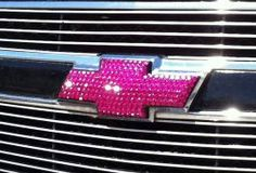 How awesome would this be on my truck?    Custom Handmade CHEVY MEDIUM Emblems With 100 % Swarovski Crystals (4-7 inches wide). $135.00, via Etsy.