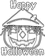 Garfield Halloween coloring page for you to color in and another