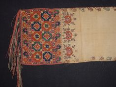 19th century Armenian man's wedding sash (silk embroidery on linen)...imagine what the rest of the outfit looked like.