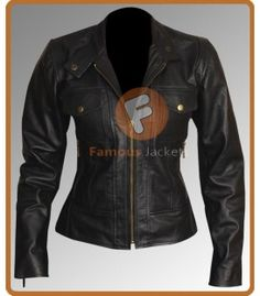 Women's Petite Black Leather Jacket