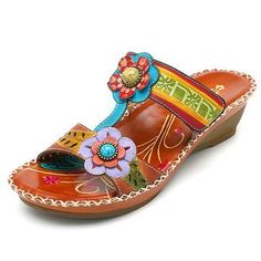 e8540b735a17 SOCOFY Bohemian Adjustable Leather Sandals Vintage Shoes