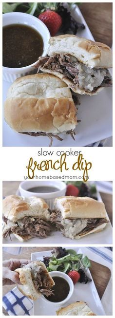 This delicious french dip sandwich is so easy to make using your slow cooker.