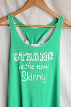 strong is the new skinny tank  | Strong is the New Skinny Bow Tank Top – person10