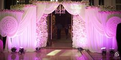 Wedding venue decorations specialists in church ceremony decoration Wedding Walkway, Wedding Gate, Wedding Entrance, Rustic Wedding Reception, Wedding Venues, Wedding Backdrops, Wedding Ideas, Reception Entrance, Wedding Props