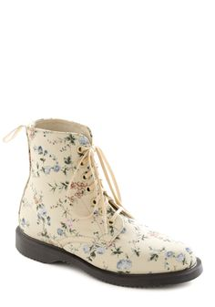 Path to Fame Boot by Dr. Martens - Multi, Floral, Casual, Cream, Multi, Vintage Inspired, 90s, Spring
