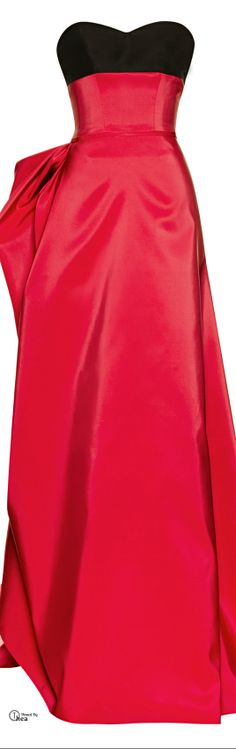 Carolina Herrera ● FW 2014, Silk Faille Gown With Ribbon