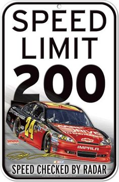 Jeff Gordon #24 Traffic Sign from Seventh Avenue ®