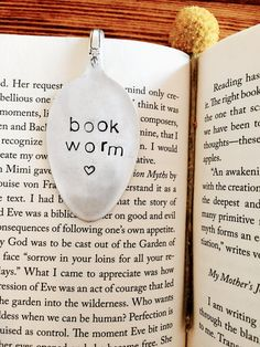 Book Worm Bookmark Vintage Bookmark Stamped by SweetThymeDesign Thrift Store Outfits, Thrift Store Crafts, Thrift Stores, Vintage Bookmarks, Stamped Spoons, Hand Stamped, Spoon Art, How To Make Bookmarks, Book Markers