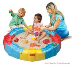 The Little People™ Build 'n Play Sandbox is great for backyard fun! #Outdoor #Playtime