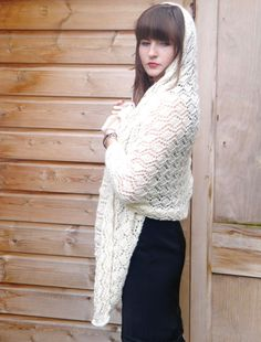 Stolen Kisses A Wedding Shawl in UK Alpaca Silk 4 Ply - Downloadable PDF