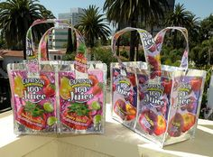 Capri-Sun bags and totes are the hit of the school and lunchroom.  DIY your own with the tutorial at www.houseofhepworths.com
