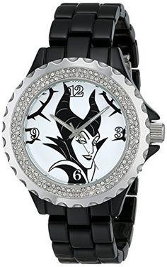 Disney Women's Maleficent Watch, W001796, Analog Display, Analog Quartz, Black Watch from Disney