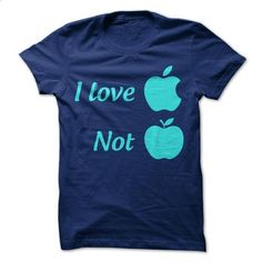I love apple not apple - personalized t shirts #shirt #Tshirt